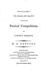 Genuine Poetical Compositions on Various Subjects