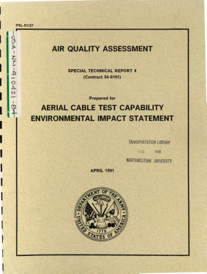 White Sands Missile Range  Aerial Cable Test Capability  ACTC