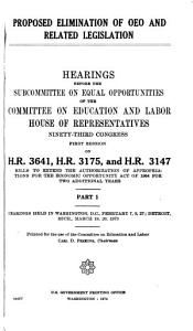 Proposed Elimination of OEO and Related Legislation PDF