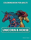 Unicorn and Horse Coloring Book for Adults
