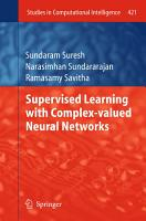Supervised Learning with Complex valued Neural Networks PDF