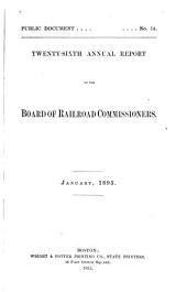 Annual Report of the Board of Railroad Commissioners: Part 26