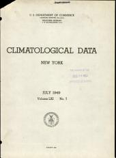 Climatological data. New York: Volume 61