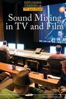 Sound Mixing in TV and Film PDF