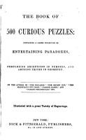 The Book of 500 Curious Puzzles PDF
