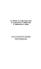 LES CONSTITUTIONS PSYCHIQUES
