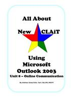 All about New CLAiT using Microsoft Outlook 2003 PDF