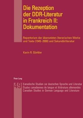 Die Rezeption der DDR Literatur in Frankreich II PDF