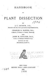 Handbook of Plant Dissection