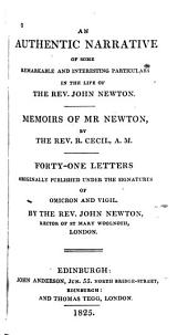 An Authentic Narrative of Some Remarkable and Interesting Particulars in the Life of John Newton