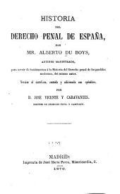 Historia del derecho penal de España