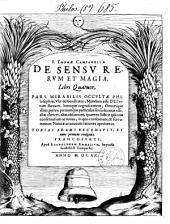 De sensu rerum et magia