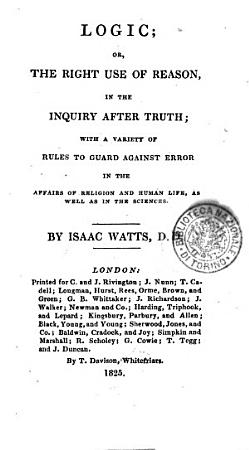 Logic  Or  The Right Use of Reason  in the Inquiry After Truth  PDF