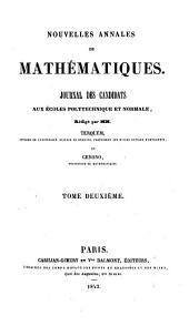 Nouvelles annales de mathématiques: Volume2