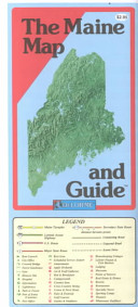 Maine Map and Guide 2001 Folded