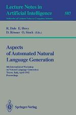 Aspects of Automated Natural Language Generation