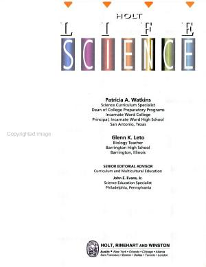 Holt Life Science PDF