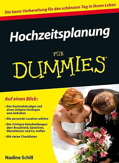 Hochzeitsplanung f  r Dummies PDF