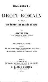 Eléments de droit romain