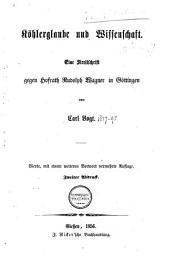 Köhlerglaube und Wissenschaft: Eine Streitschrift gegen Hofrath Rud. Wagner in Göttingen