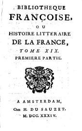 Bibliotheque françoise, ou Histoire litteraire de la France: Partie17