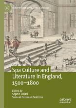 Spa Culture and Literature in England  1500   1800 PDF