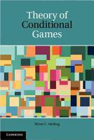 Theory of Conditional Games PDF