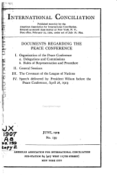 Documents Regarding the Peace Conference