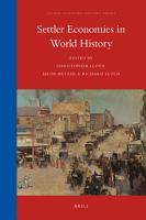 Settler Economies in World History PDF