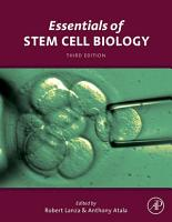 Essentials of Stem Cell Biology PDF