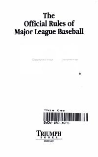 2005 Official Rules of Major League Baseball