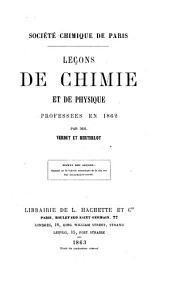 Leçons de chimie professées en 1860-1869: Volume3