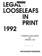 Legal Looseleafs in Print PDF