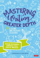 Mastering Writing at Greater Depth PDF