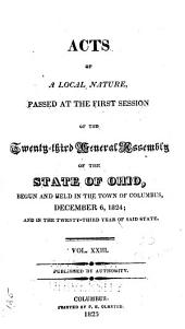 Acts of the State of Ohio: Volume 23