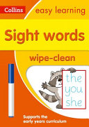 Sight Words Age 3-5 Wipe Clean