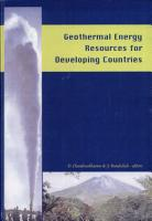Geothermal Energy Resources for Developing Countries PDF