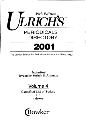 Ulrich s International Periodicals Directory PDF