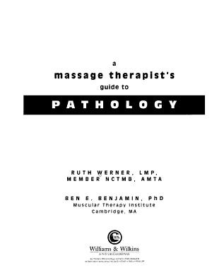 A Massage Therapist s Guide to Pathology
