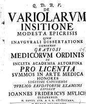 De variolarum insitione modesta epicrisis ...