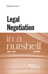 Legal Negotiation in a Nutshell: Edition 3