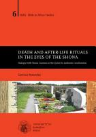 Death and After life Rituals in the Eyes of the Shona PDF