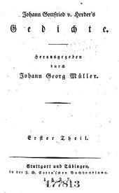 Johann Gottfried von Herder's sa mmtliche Werke ...: -4. Gedichte