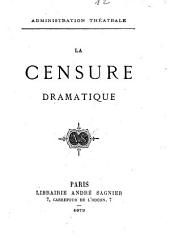 La Censure dramatique