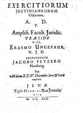 Exercitia Iusitianea: Volume 8