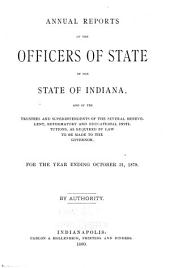 Annual Reports of ..., Submitted to the General Assembly of the State of Indiana: Volume 2