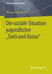 """Die soziale Situation jugendlicher """"Sinti und Roma"""""""