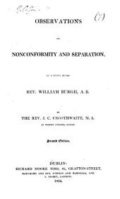 Observations on nonconformity and separation, a letter: Volume 7