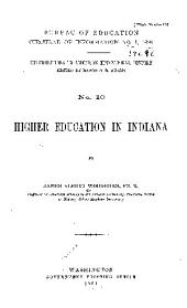 Higher Education in Indiana: Volume 370