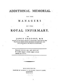 Additional Memorial to the Managers of the Royal Infirmary PDF